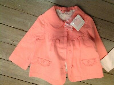NWT Janie and jack Jacket watermelon baby kimono top coat jacket 0-6 months