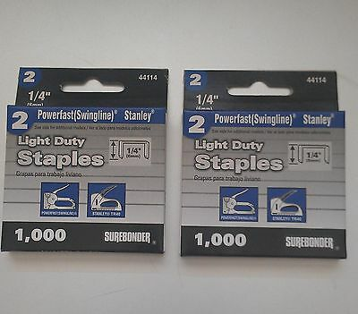 "2000- 1/4"" Staples for the Swingline #101- Vintage StapleGun"