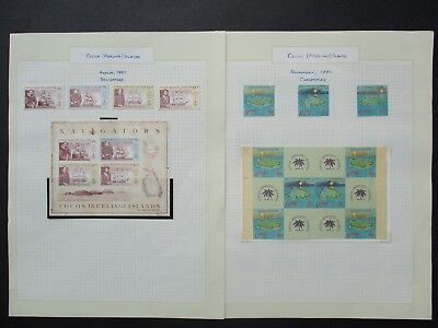 ESTATE: Cocos (Keeling) Island Collection on pages - great item (2320)