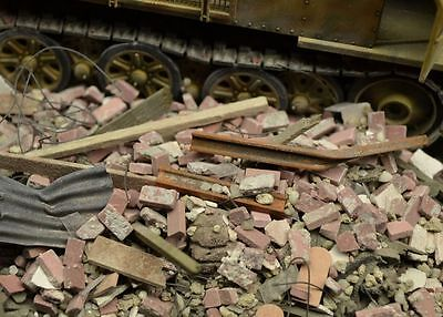 DioDump DD040 - Urban debris / rubble 1:35 scale diorama scenery materials
