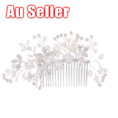AU Wedding Bridal Crystal Head Rhinestone Crystal Hair Piece Head Comb Jewelry
