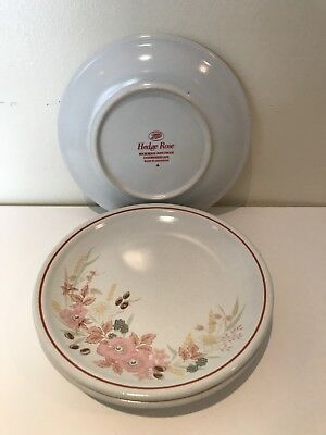 Vintage Hedge Rose By Boots Side Plates X 4