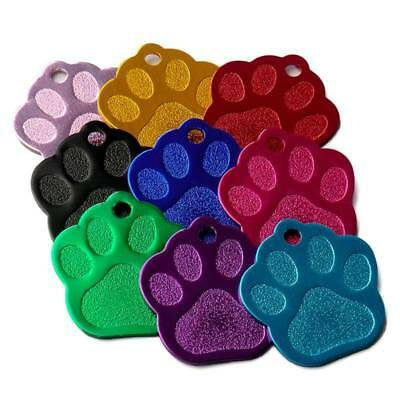 20pcs Paw Shape 2 Sides Tag pet dogs and cats ID Cat Puppy Name Phone ID HOT