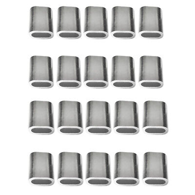 20pcs Aluminum Crimping Loop Sleeve for 3mm and 4mm Wire Rope and Cable