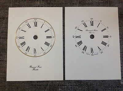 Two Carriage Clock Face Dials On Metal 91x62mm