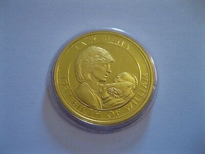 "Medaille  Lady Diana  1982  ""Birth of William""  PP   in Münzkapsel"