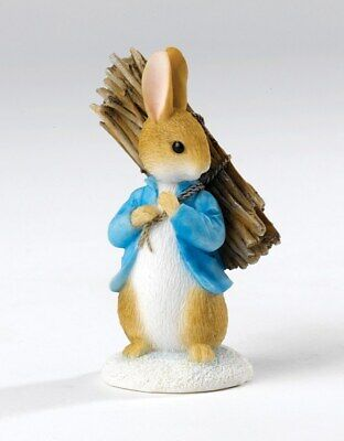 Beatrix Potter Peter Rabbit Carrying Sticks NEW Figurine  in Box