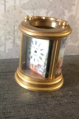 French Carriage Clock Round Miniature Marked Elliott London  For Restoration
