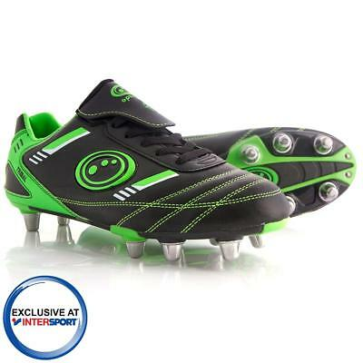 Mens Black and Green Optimum Tribal Rugby Boots In UK Sizes 7,9 & 10 RRP £30.00