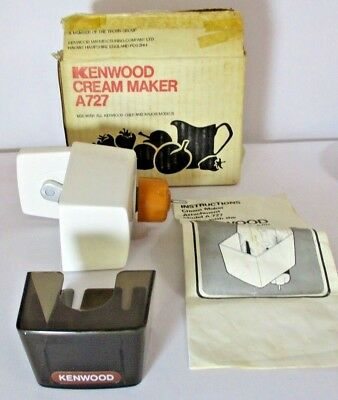 Boxed Kenwood Cream Maker A727, Works with Kenwood Chef & Major Models, VGC