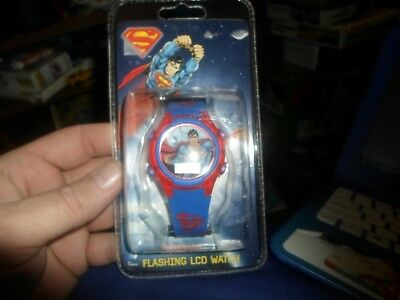 New Boys Girls Superman LCD Flashing watch  DC Comics SHIPS FAST!