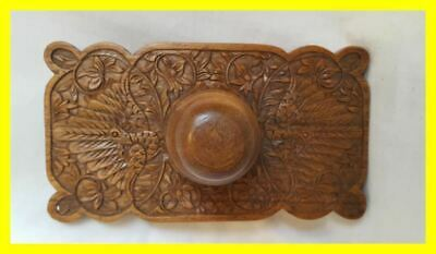 Very Good Black Forest Rolling Blotter, Carved Walnut,Circa 1900