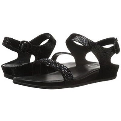 71f33875387d Size 8 Womens FitFlop Fit Flop Banda Roxy Black Flat Sandals Shoes B47-001