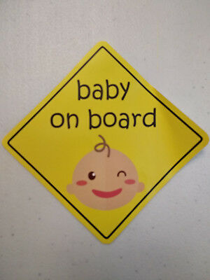 baby on board Stickers x 2