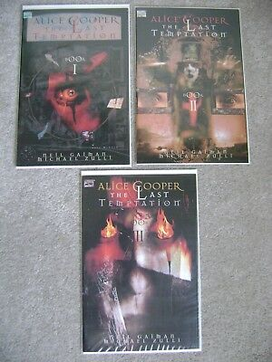 Alice Cooper The Last Temptation #1 2 3 Complete Set Marvel Comics 1994 Vf/nm