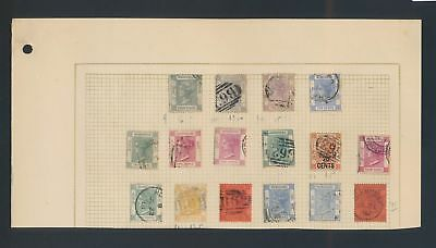 XB08514 Br Hong Kong Queen Victoria fine lot MH/used