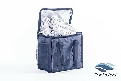 Take Away Delivery Drivers Bag Insulated Home Deliveries Bags Mesh Pocket T31