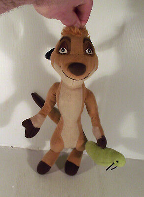 """12"""" Timon With Green Insect Soft Toy The Lion King"""