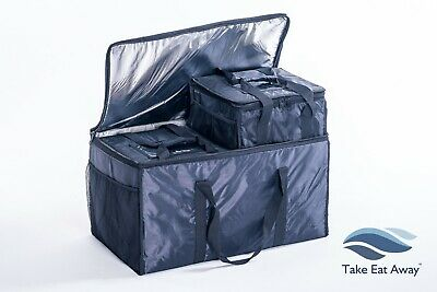 3 xTake Away Delivery Insulated Bags Transport Hot/Cold Food TOGHETHER T81/T19x2