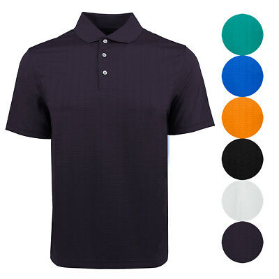PGA Tour Men's Airflux Solid Patterned Polo