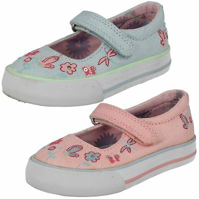 GIRLS STARTRITE BOTANICAL WHITE SPARKLE SEQUIN BUTTERFLY CANVAS SHOES UK10 UK9.5