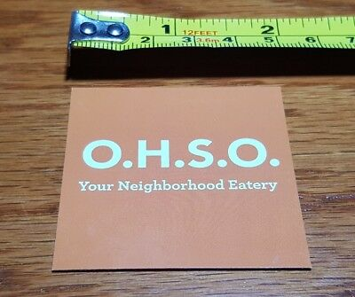 O.H.S.O. Brewing Co. Sticker ~NEW! Craft Beer Brew Brewery Logo Decal~ Ale