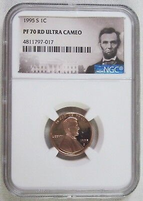 1995 S Proof Lincoln Memorial Cent/Penny - NGC PF 70 Red Ultra Cameo (7-017)