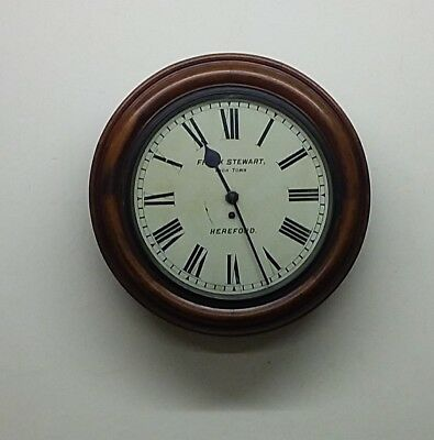 """Rare Oversized Fusee Station Clock 19"""" Hereford By Frank Stewart"""