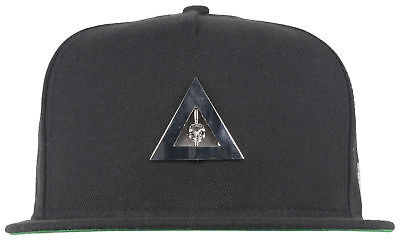 Black Scale Skull Pyramid New Era Cap Metal Fitted Hat Headwear Cap Collab Black