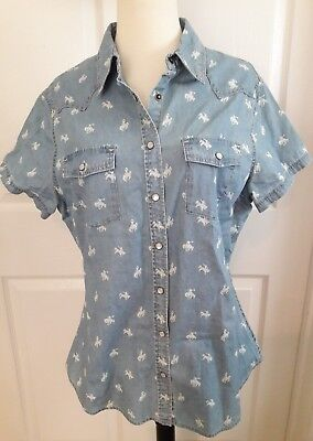 bdeff1631b82bf R.M. Williams Top Womens Shirt Rodeo Cowgirl Western Denim size 14 button  down