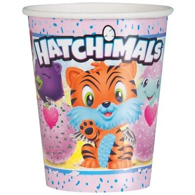 HATCHIMALS Kids Birthday Party Supply 9 Oz Cups For 8 Guests Quick