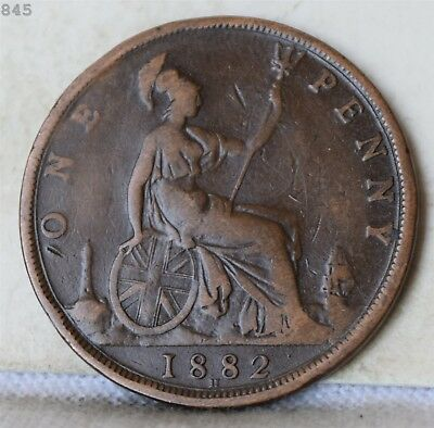 1882-H Great Britain One Penny *Free S/H After 1st Item*