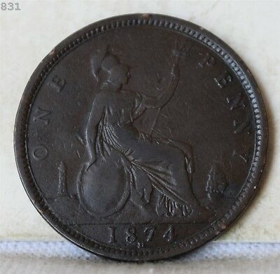 1874-H Great Britain One Penny *Free S/H After 1st Item*