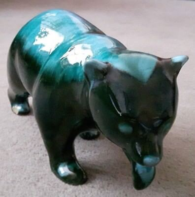 Vintage Large Green Walking Bear Genuine Blue Mountain Pottery Canada
