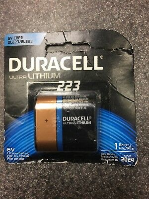 Duracell 223 Ultra Photo Lithium 6V Battery DL223 EL223AP CR-P2 EXP 3/2024