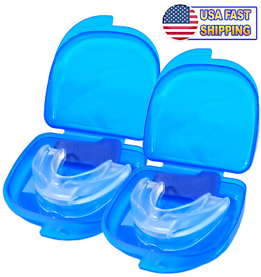 2pc Snore Relief Moldable Mouthpiece Anti Snoring Aid Mouthpiece Stop Snoring