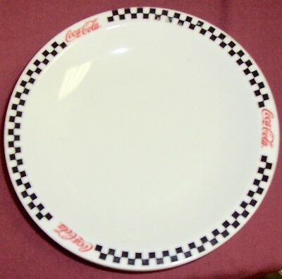 Coca Cola Salad Plates Checkered Pattern By Gibson   Set Of 3... 2002