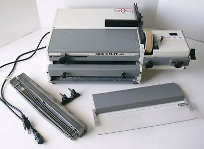 RHIN-O-TUFF model OD-4000/ OD-4300 combo electric PAPER PUNCH and COIL INSERTER