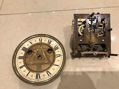 Antique Arts And Crafts Clock Movement For Restoration