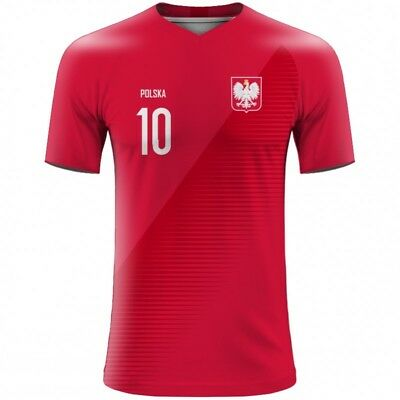 FIFA WORLD CUP 2018 Poland Polska Football Fan Jersey Milik Lewandowski  Grosicki 0e57e0cba
