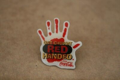 Coca-Cola Get Caught Red Handed Coke Reps Evaluating Wendy's Service Pin Pinback