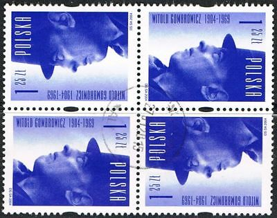Poland 2004. Witold Gombrowicz. Writer. Birth Centenary. Block of 4 used.
