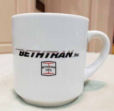 Rare BETHLEHEM STEEL Bethtran Inc Ceramic Coffee Tea Cup Mug