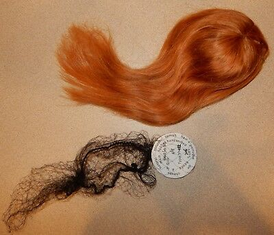 Real Human Hair Long Doll Wig With Bangs Blonde Authentic 36-38 Cm Germany