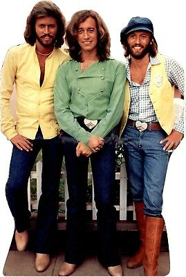 """BEE GEES - 68"""" Tall- Life Size CARDBOARD CUTOUT Standup Standee"""