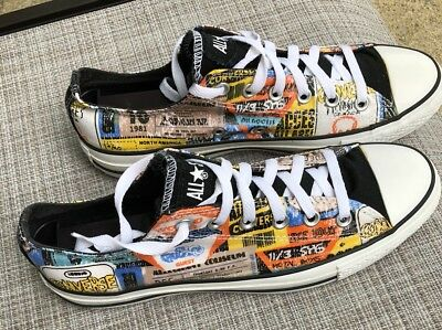Converse Chuck Taylor All Star Low Top Women Size 10 in Black Yellow Men Size 8