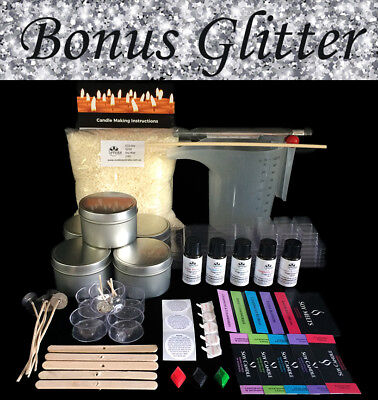 Soy Candle Making Kit For Beginners with Bonus GLITTER