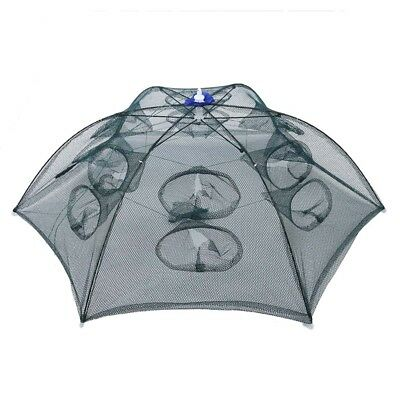 Trap Net Fishing Camaron Cage Portable Umbrella Style Foldable with 12 Hole G2Q2