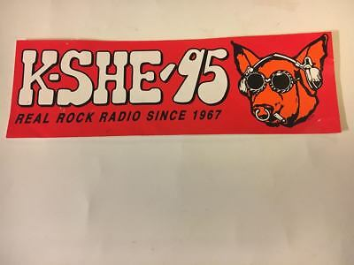 Vintage KSHE 95 SINCE 1967 Real Rock Radio Bumpersticker SWEET MEAT New RARE!