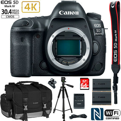 Canon EOS 5D Mark IV 30.4 MP Full Frame CMOS DSLR Camera Body EXTRA BATTERY Kit